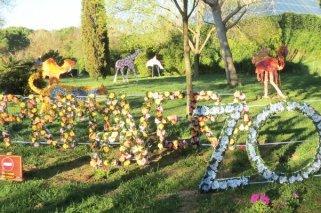 Exposición floral en el Zoo Aquarium de Madrid